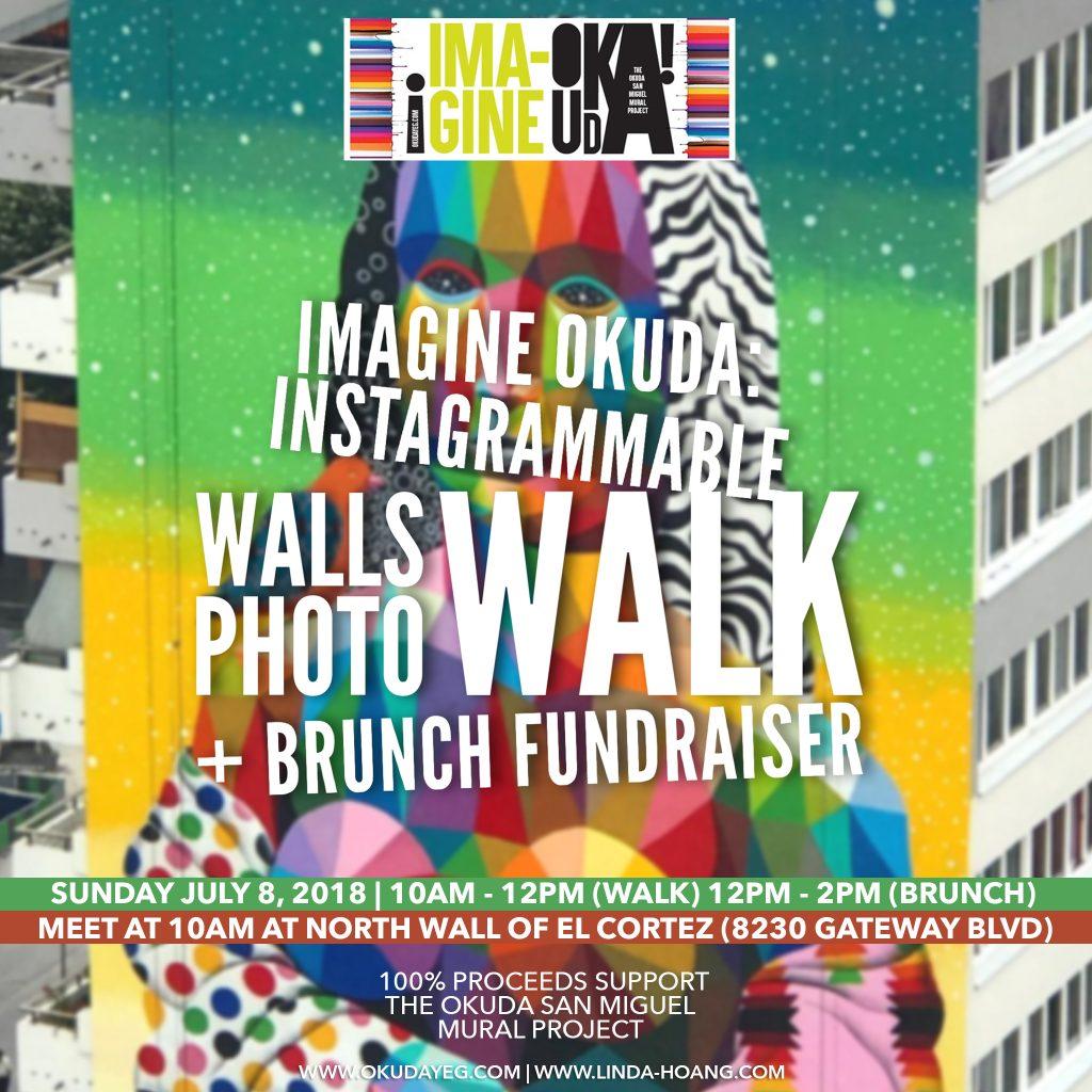Imagine Okuda Edmonton Art Mural Project Instagrammable Wall Walk Brunch
