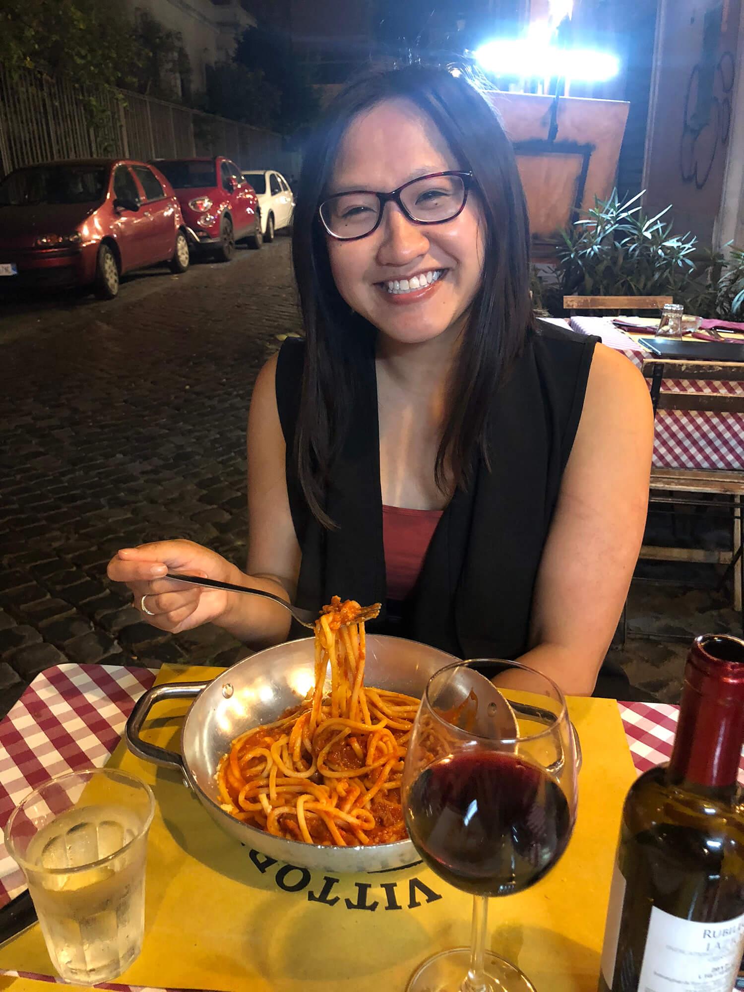 Bucatini all Amatriciana pasta - Rome Italy - Travel - Food