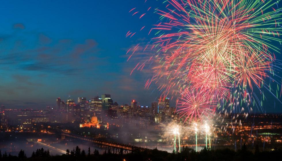 City of Edmonton Photo Gallery - Anthony P Jones Fireworks