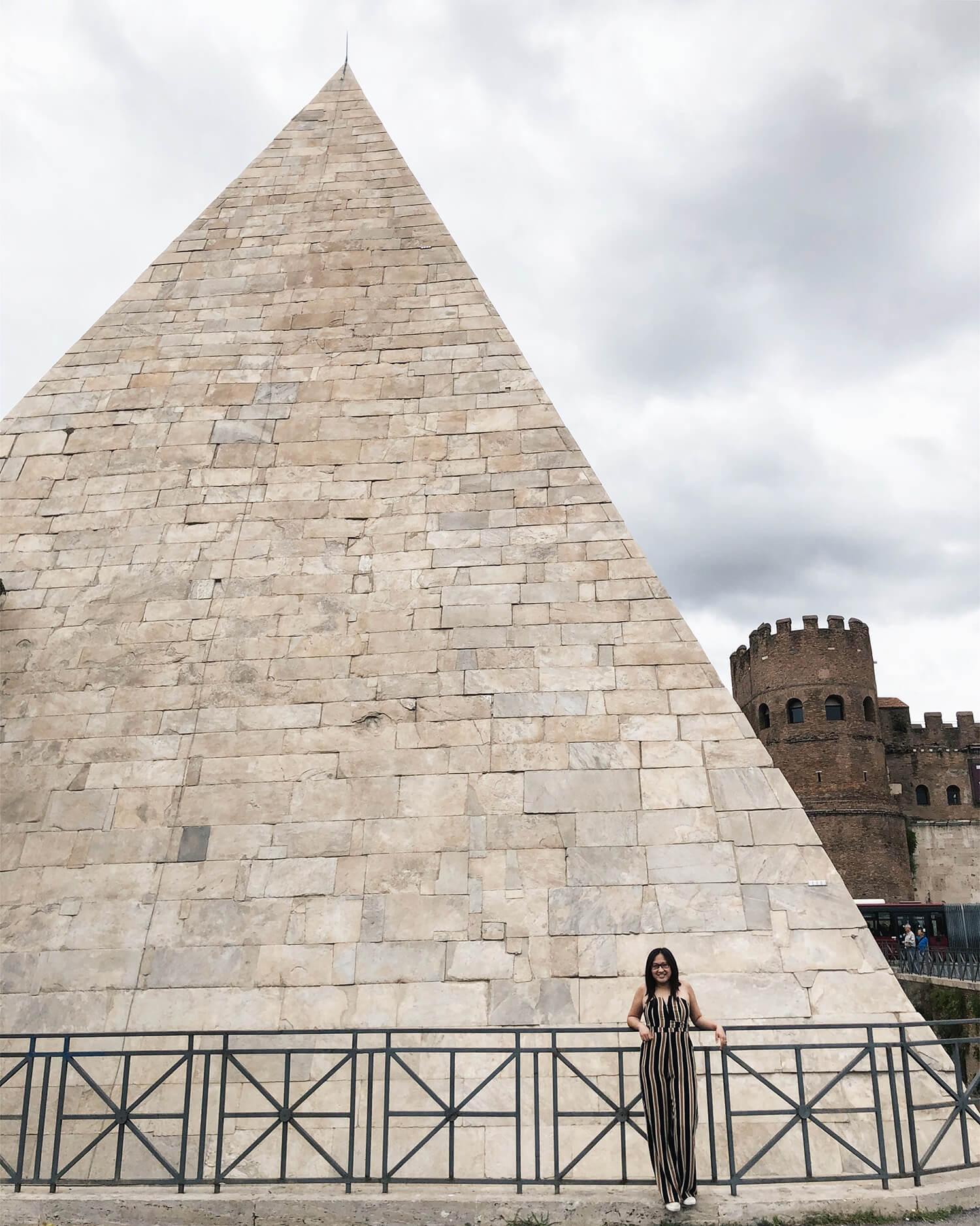Pyramid of Cestius Explore Rome Travel Italy Ostiense