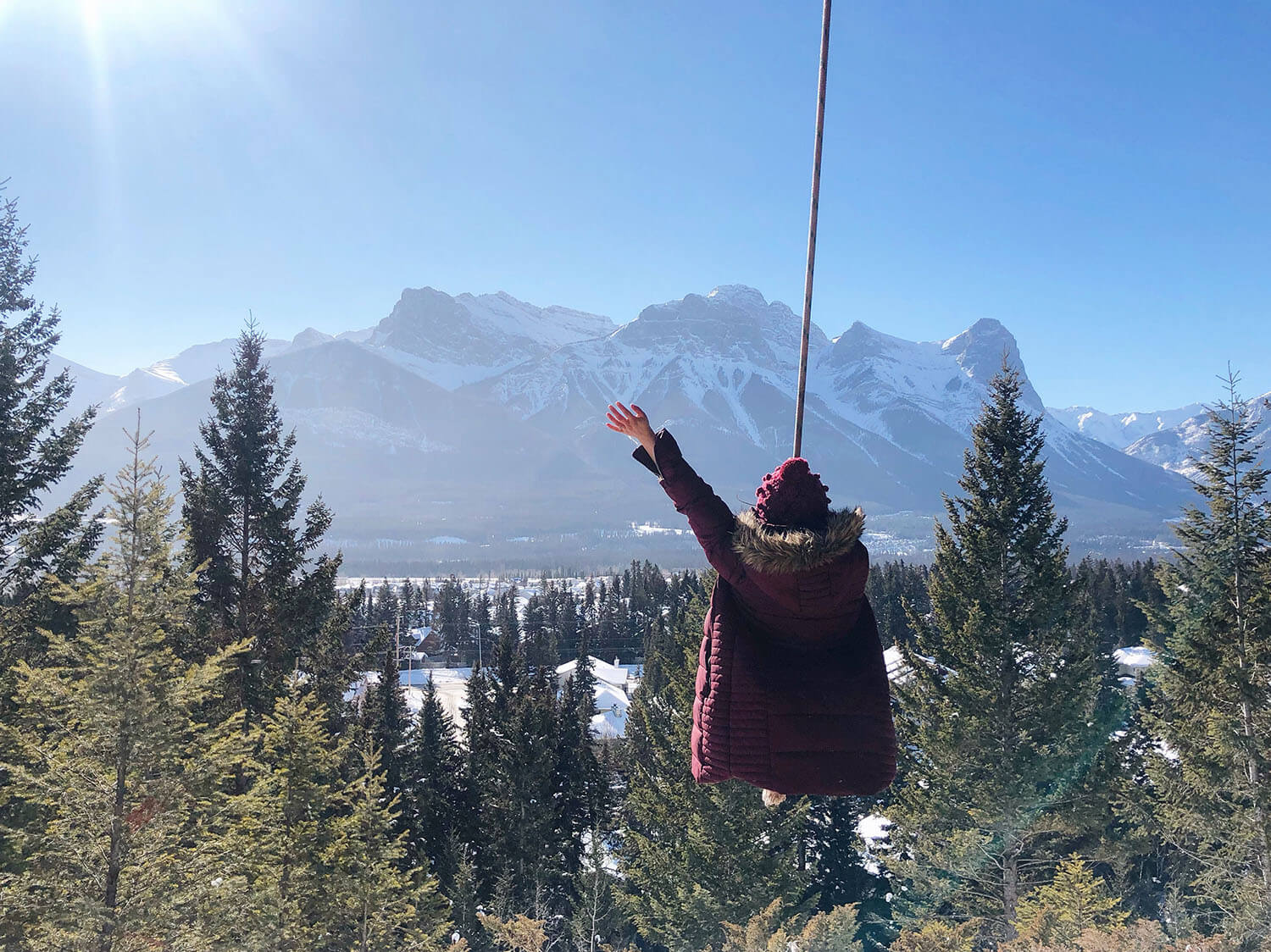 Travel Canmore Swing Kananaskis Explore Alberta