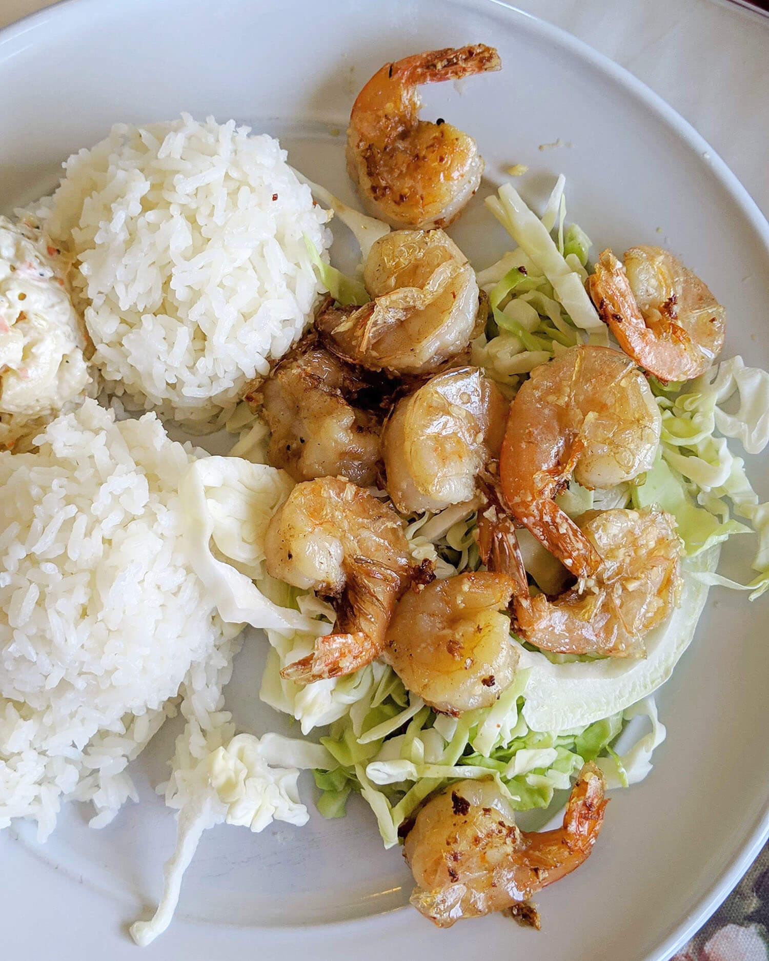 Garlic Shrimp Plate Lunch Ono Kau Kau Lahaina Maui Travel Food Hawaii