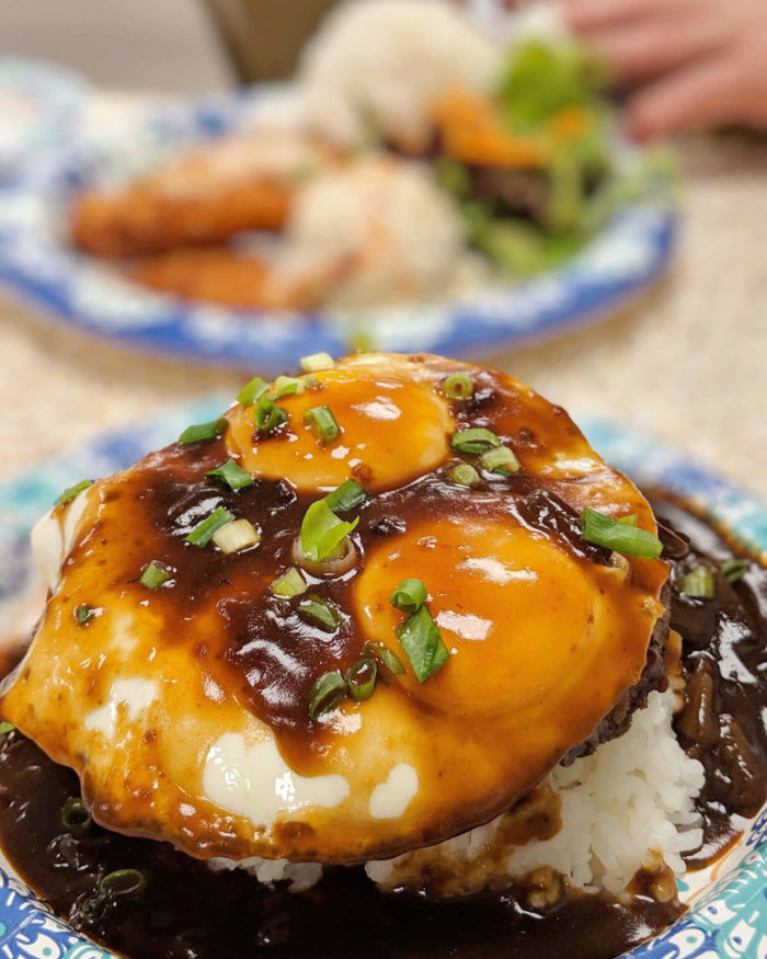 Joeys Kitchen Loco Moco Plate Maui Hawaii Food Travel