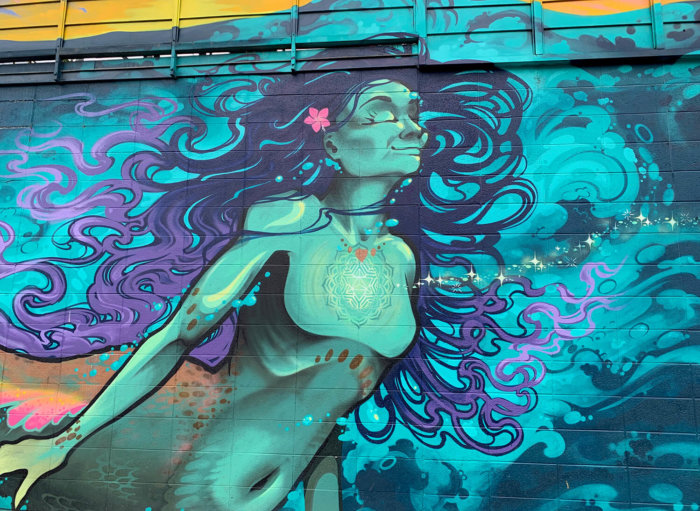 Instagrammable Walls of Kelowna British Columbia - Mermaid Mural - Explore BC
