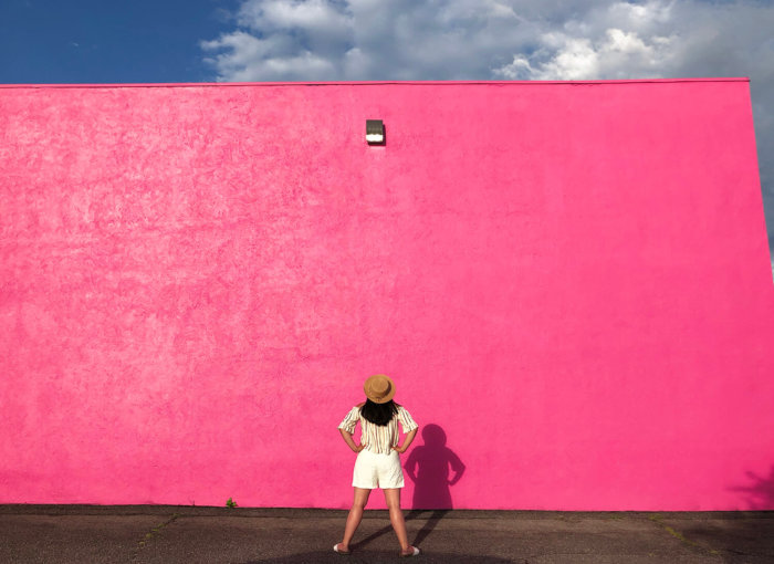 Instagrammable Walls of Kelowna British Columbia - Pink Wall - Explore BC