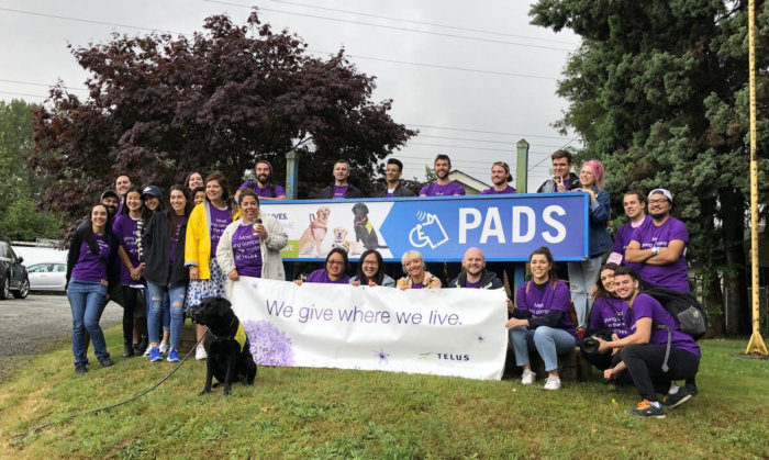 TELUS Give Where We Live - PADS - Rescue Dogs - TELUS Partner - Volunteer Edmonton