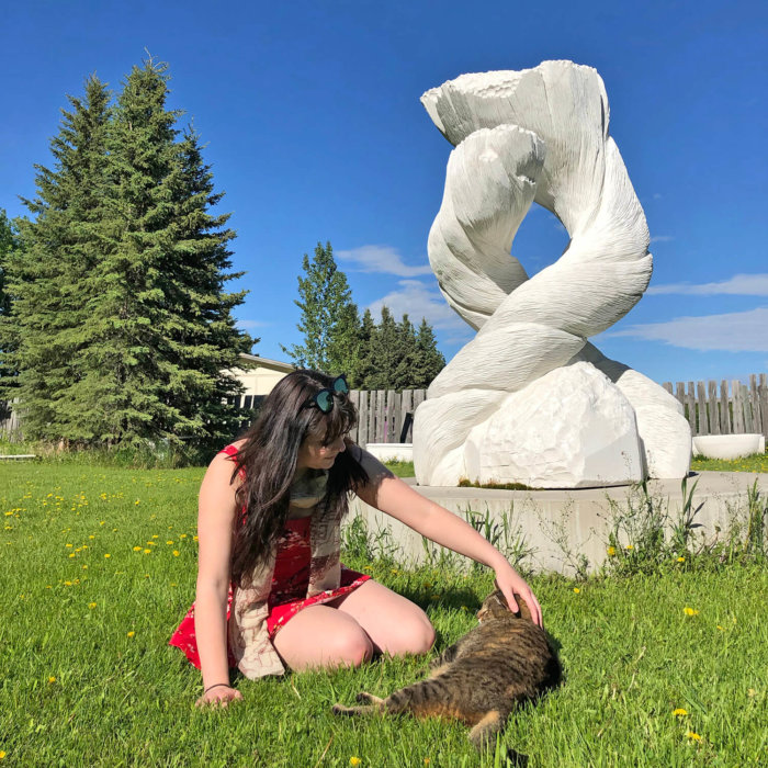 Travel Guide - Sundre Explore Alberta - Bergen International Sculpture Park Cat
