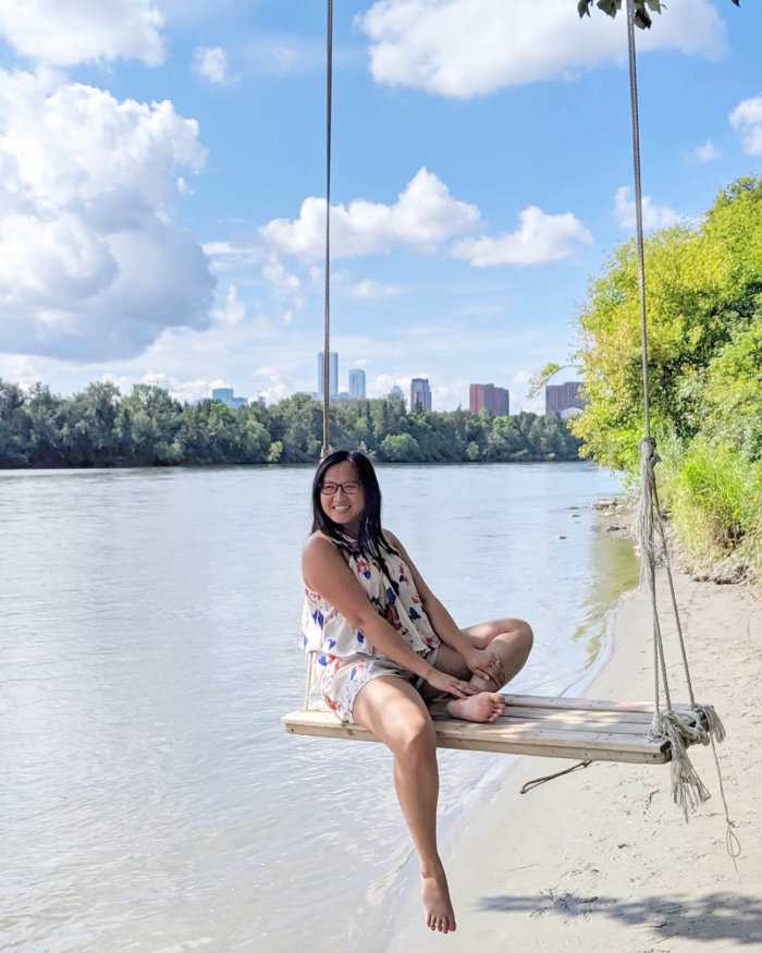 Explore Edmonton River Valley Swing Highlands Kinnaird Park
