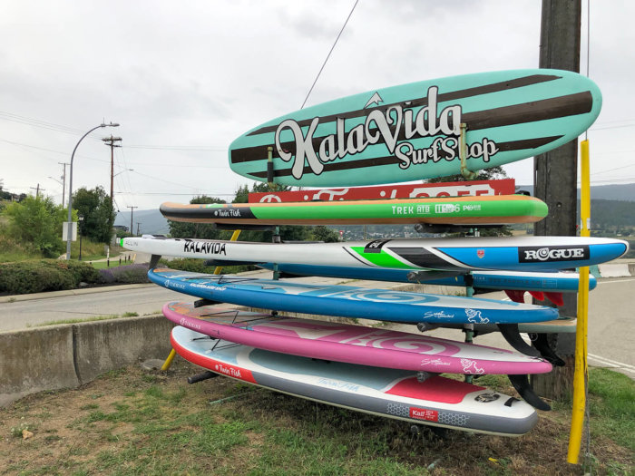 Explore Vernon - Discover British Columbia - North Okanagan - Kalavida Surf Shop Kalamalka Lake