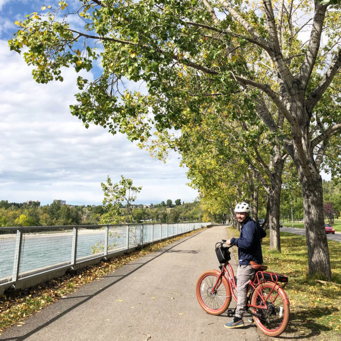 Explore Alberta - Capture Calgary - Tourism Calgary - Pedego E Bikes - Bow River Pathway - Biking - YYC Bike