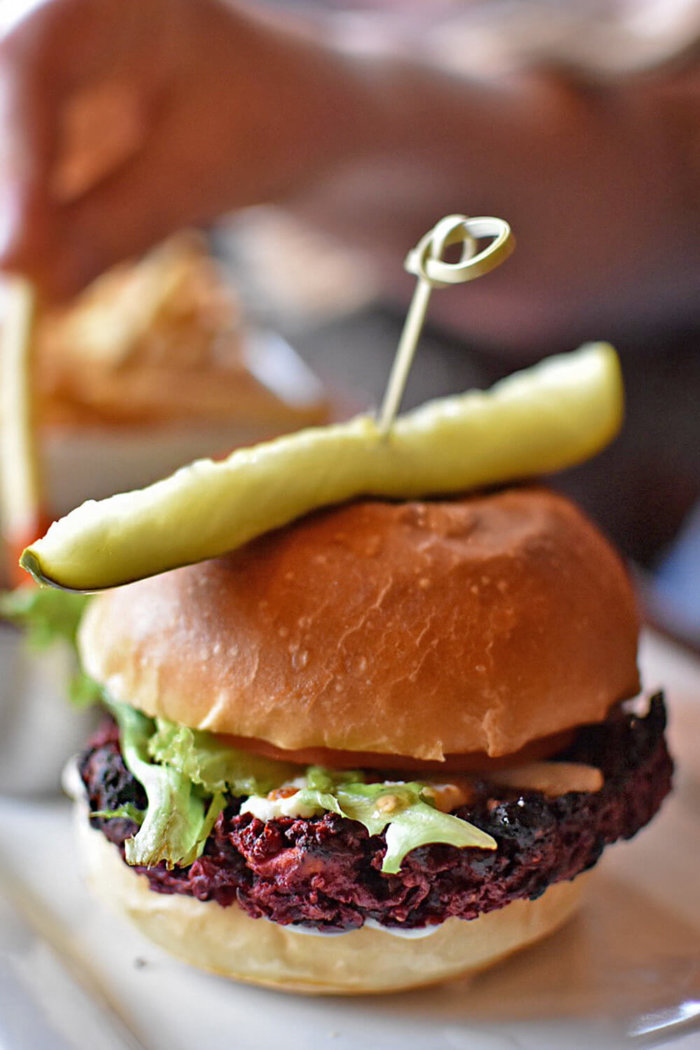 Truffle Pigs Bistro & Lounge Field British Columbia - Explore BC - Travel Alberta - Mountain Village - Beet Burger