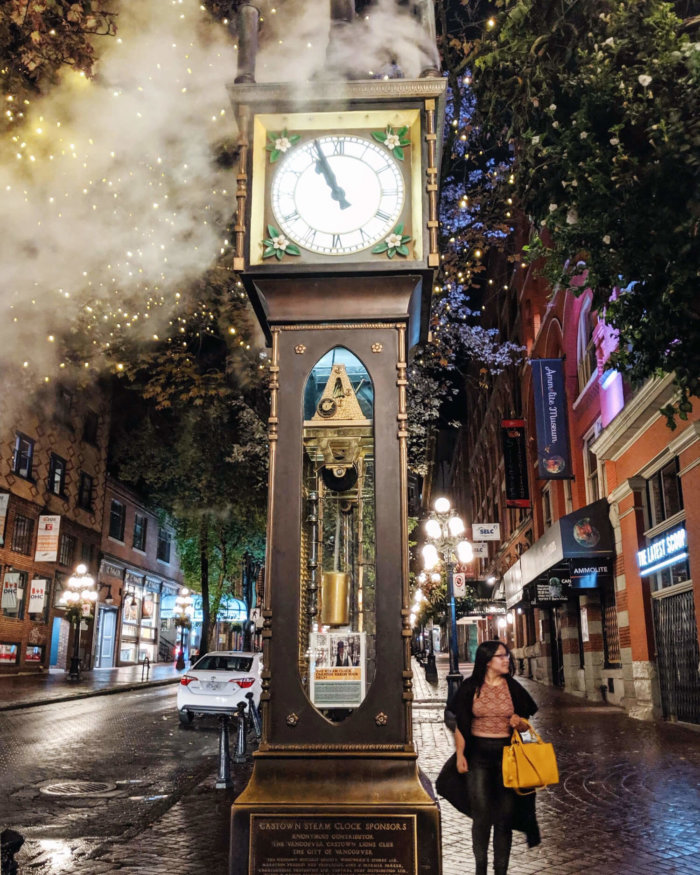 Instagrammable Vancouver - Picture Perfect Spots in Vancouver British Columbia - Murals - Scenic - Hello BC - Travel Guide - Gastown Steam Clock
