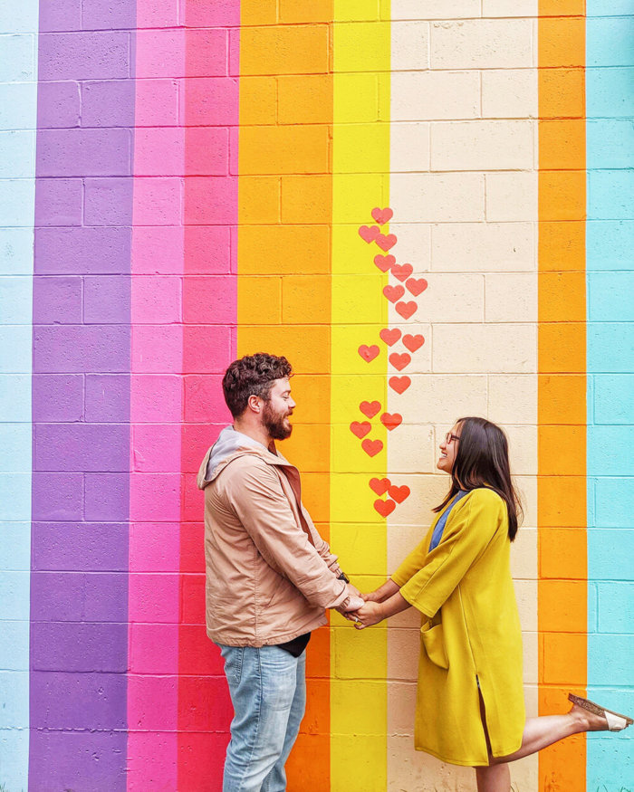 Instagrammable Vancouver - Picture Perfect Spots in YVR Vancouver - British Columbia - Murals - Scenic - Hello BC - Travel Guide - Rainbow Wall