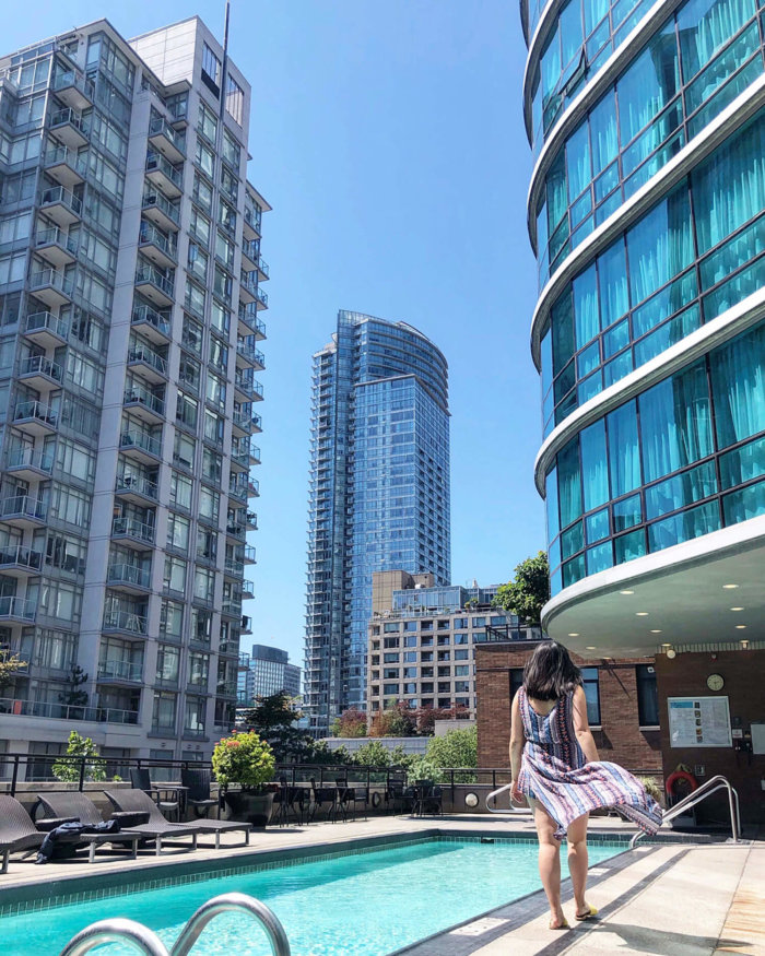 Instagrammable Vancouver - Picture Perfect Spots in Vancouver British Columbia - Murals - Scenic - Hello BC - Travel Guide - The Westin Grand Outdoor Pool Downtown