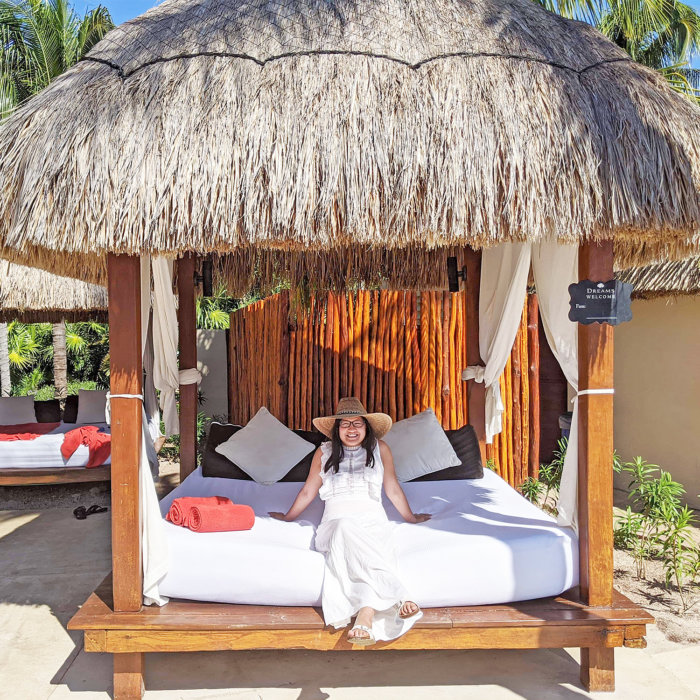 Dreams Riviera Cancun - Instagrammable Photo Op Spots - Places to Take a Picture - Mexico - Cabana