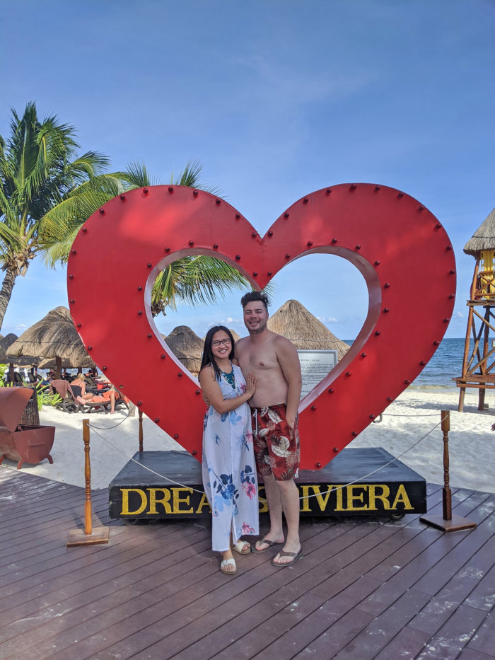 Dreams Riviera Cancun - Instagrammable Photo Op Spots - Places to Take a Picture - Mexico - Heart