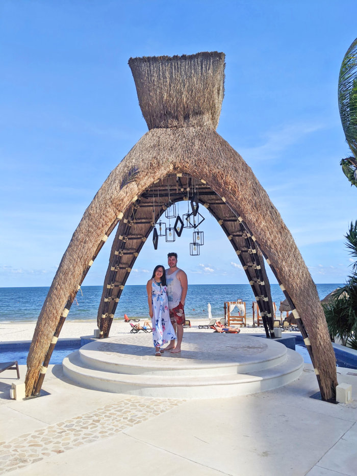 Dreams Riviera Cancun - Instagrammable Photo Op Spots - Places to Take a Picture - Mexico - Tiki Arch