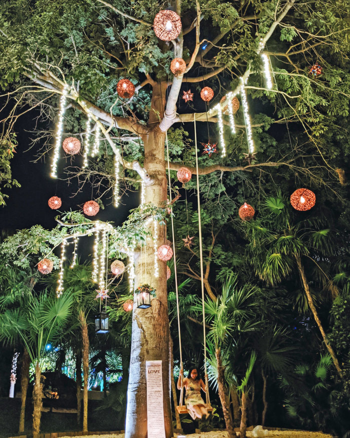 Dreams Riviera Cancun - Instagrammable Photo Op Spots - Places to Take a Picture - Mexico - Tree Swing