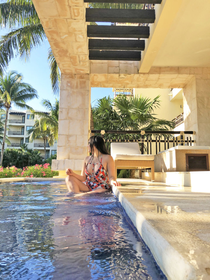 Dreams Riviera Cancun - All Inclusive Resort Mexico - Infinity Pool Private Plunge pool