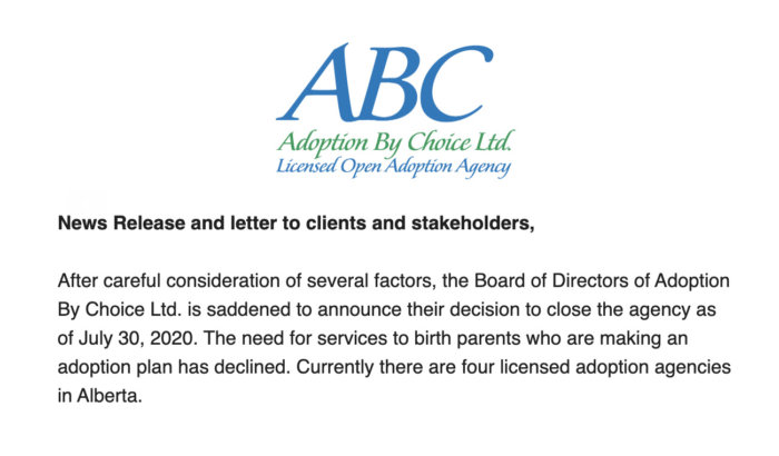 Adoption by Choice closure