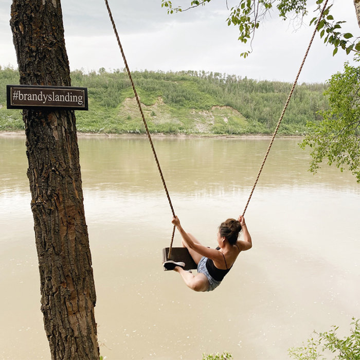 Brandy's Landing - Edmonton River Valley Swing Windermere