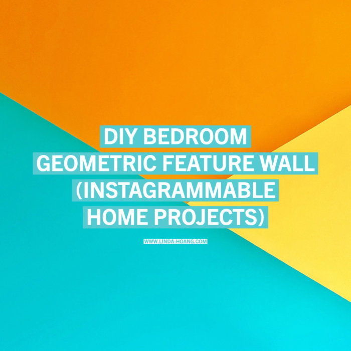 DIY Master Bedroom Paint Project Edmonton - Instagrammable Wall Geometric Feature Wall