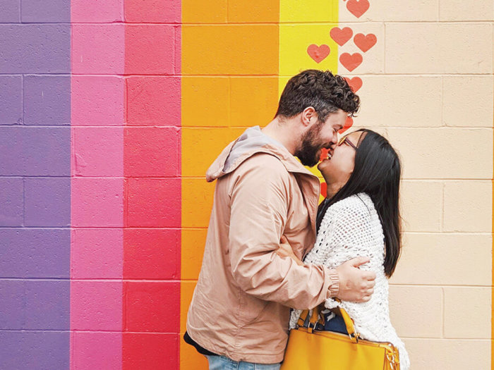 Rainbow Wall - Vancouver Instagrammable Mural