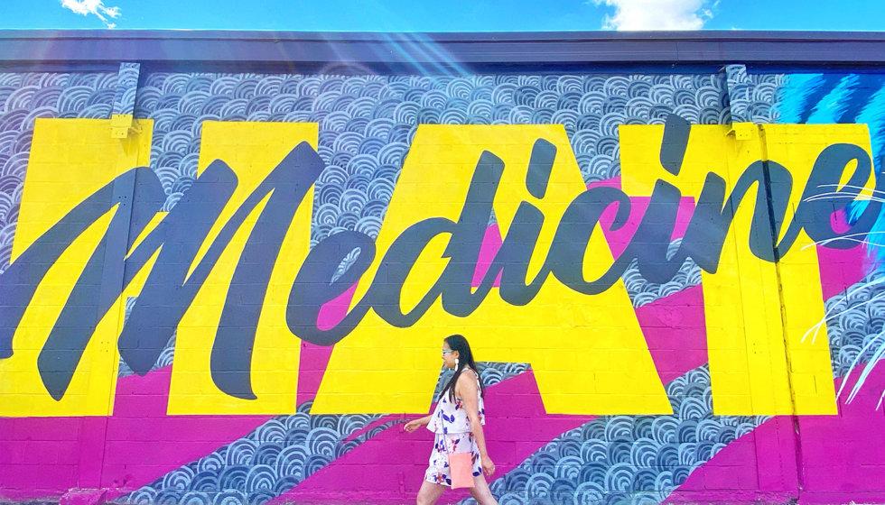 Instagrammable Walls of Medicine Hat -FasmCreative - Art Mural