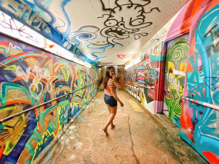 Instagrammable Walls of Medicine Hat - Underground Tunnel Railway St - Art Murals