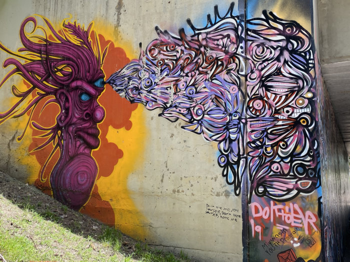 Instagrammable Walls of Medicine Hat -jesse Gouchey and Doktoer - Art Mural
