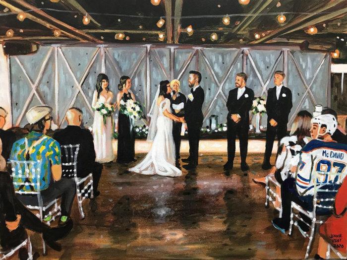 Jennie Vegt Artist - The Wedding Edit - Mike and Linda - Vow Renewal - Edmonton Wedding