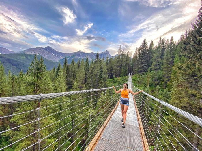 Blackshale Suspension Bridge - Kananaskis Country - Canmore - Explore Alberta - Travel Guide - Hiking - Trails