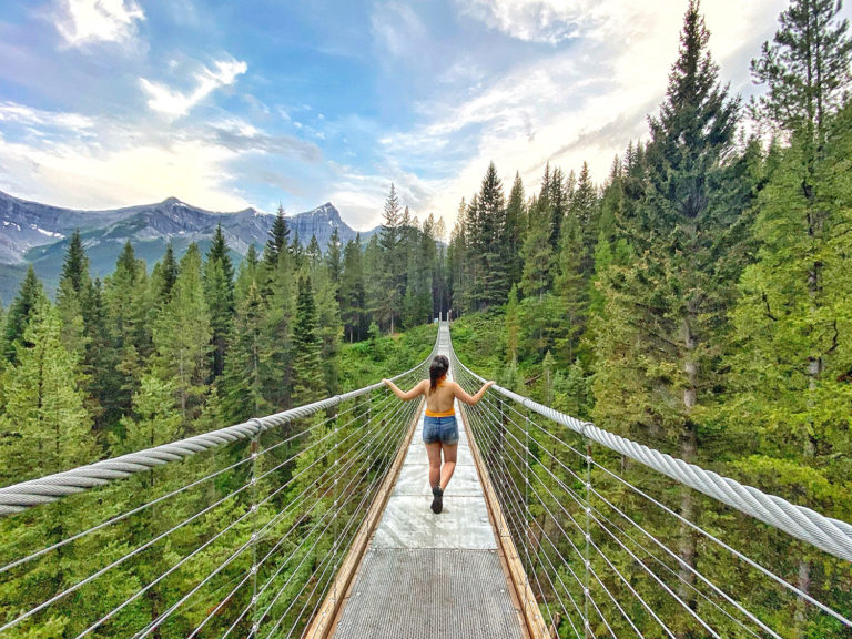Blackshale Suspension Bridge - Kananaskis Country - Canmore - Explore Alberta - Travel Guide - Hiking - Trails