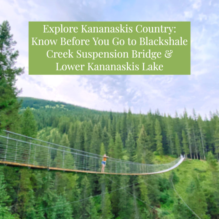 Blackshale Suspension Bridge - Kananaskis Country - Canmore - Explore Alberta - Travel Guide - Lower Kananaskis Lake