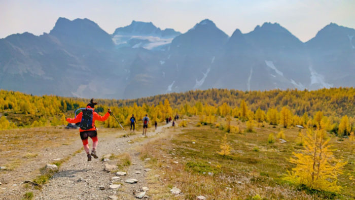 Explore Alberta - Travel - Banff National Park - Moraine Lake - Larch Valley Trail Minnestimma Lake Hike - Rocky Mountains - Larches - Ten Peaks