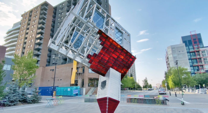 Upside Down Church - Device to Root Out Evil - Dennis Oppenheim - Public Art - Calgary - Explore Alberta - East Village Downtown YYC
