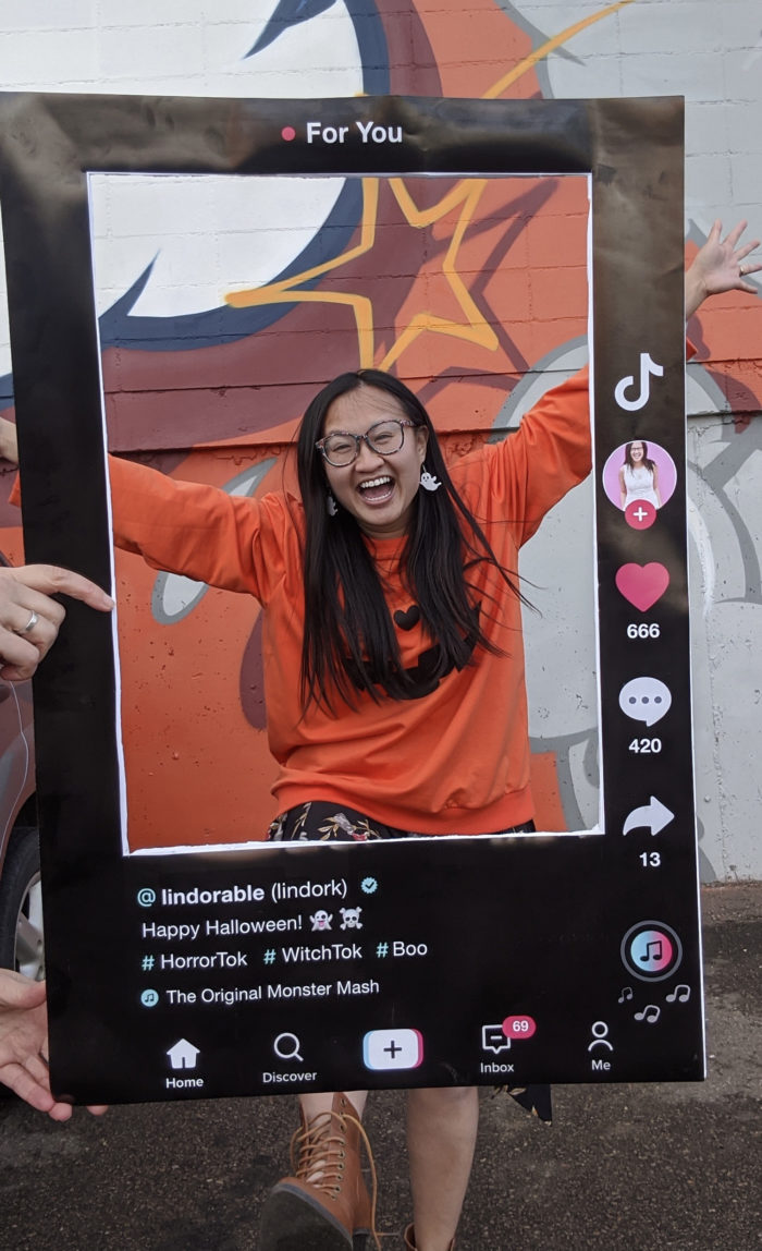 TikTok Halloween Costume - Linda Hoang - Lindork - Lindorable - Explore Edmonton - Explore Alberta - DIY - Social Media