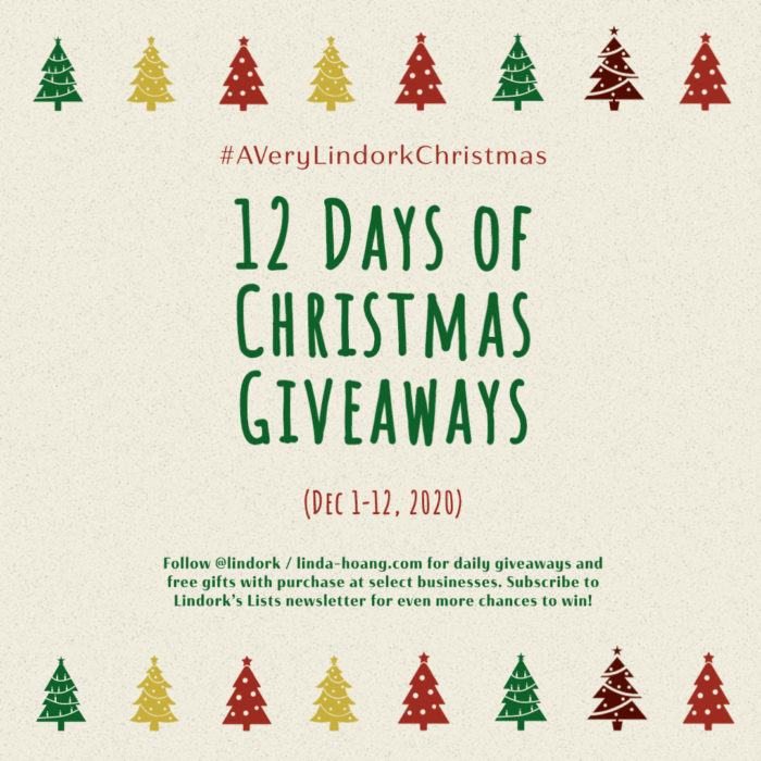 A Very Lindork Christmas - 12 Days of Giveaways 2020 - Square