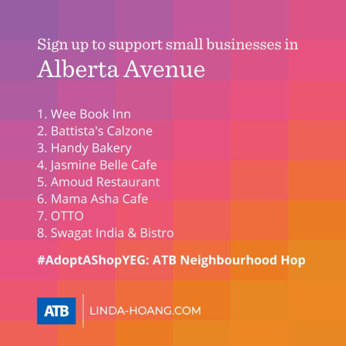 AdoptAShopYEG ATB Neighbourhood Hop - Itinerary - Alberta Avenue - Explore Edmonton - Shop Local - Support Small Business