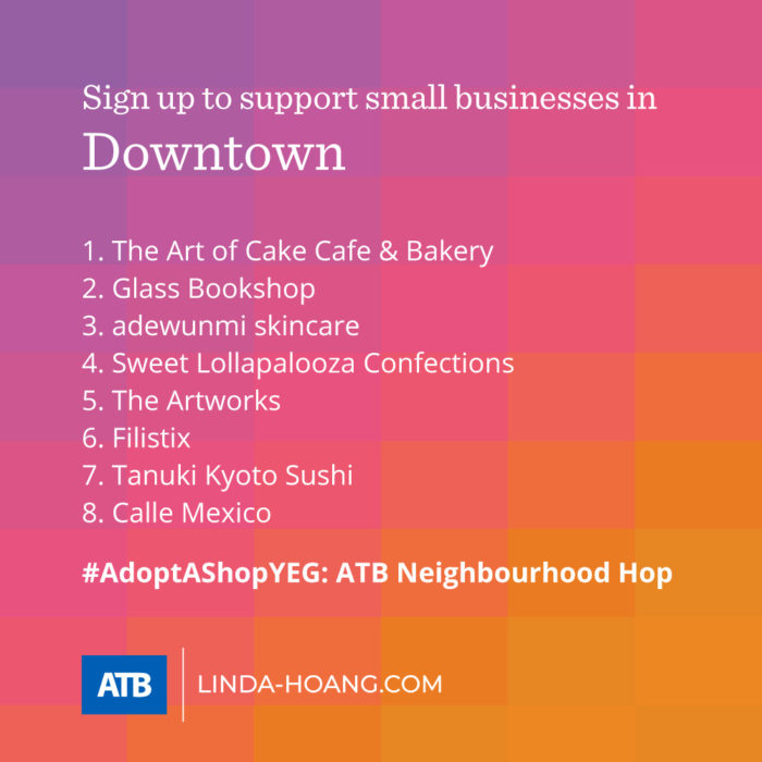 AdoptAShopYEG ATB Neighbourhood Hop - Itinerary - Downtown - Explore Edmonton - Shop Local - Support Small Business