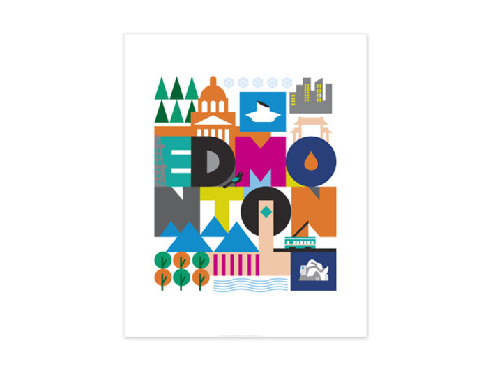 Bee Waeland Vivid Print Gifts - Explore Edmonton - Made in Edmonton - Ultimate Gift Guide Linda Hoang