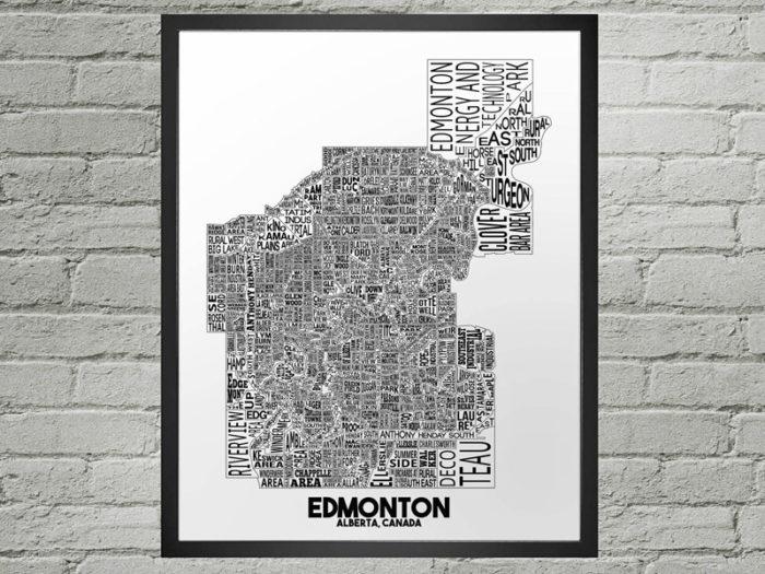 Damon D Chan Map Designs - Explore Edmonton - Made in Edmonton - Ultimate Gift Guide Linda Hoang