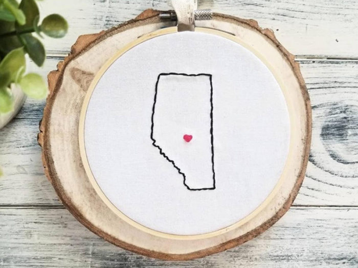 Edmonton Embroidery Cross Stitch - Explore Edmonton - Made in Edmonton - Ultimate Gift Guide Linda Hoang