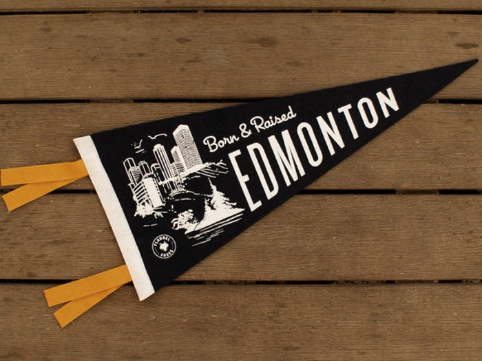 Edmonton Pennant Flannel Foxes - Explore Edmonton - Made in Edmonton - Ultimate Gift Guide Linda Hoang