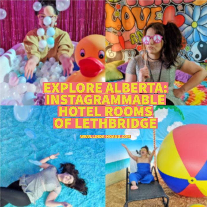 Explore Alberta - Visit Lethbridge - Lethbridge Lodging Association - Instagrammable Spotlight Hotel Rooms - Travel