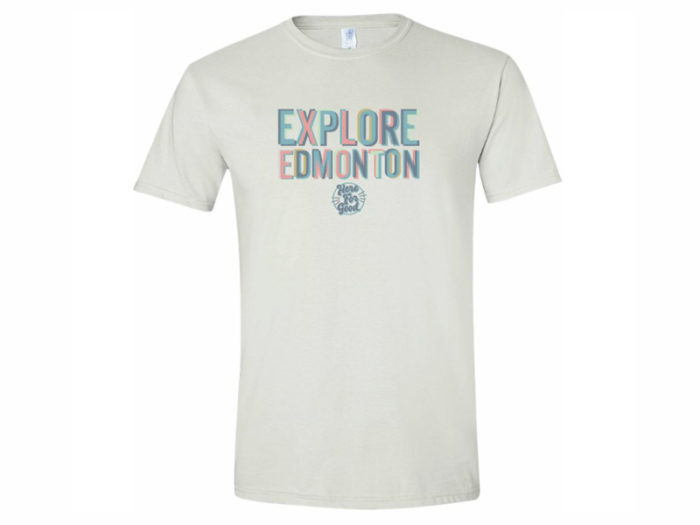 Here for Good Print Machine Small Business T Shirts - Explore Edmonton - Made in Edmonton - Ultimate Gift Guide Linda Hoang