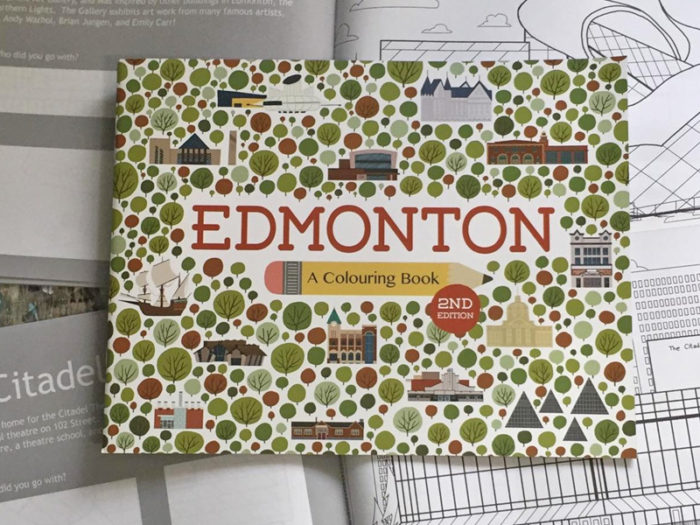 Jason Blower Snow Alligator - Edmonton Colouring Book - Explore Edmonton - Made in Edmonton - Ultimate Gift Guide Linda Hoang