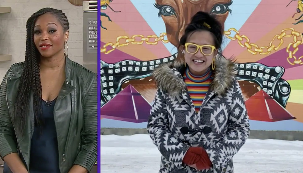 Linda Hoang and Tracy Moore - CityLine - Instagrammable Walls of Canada - IG Walls