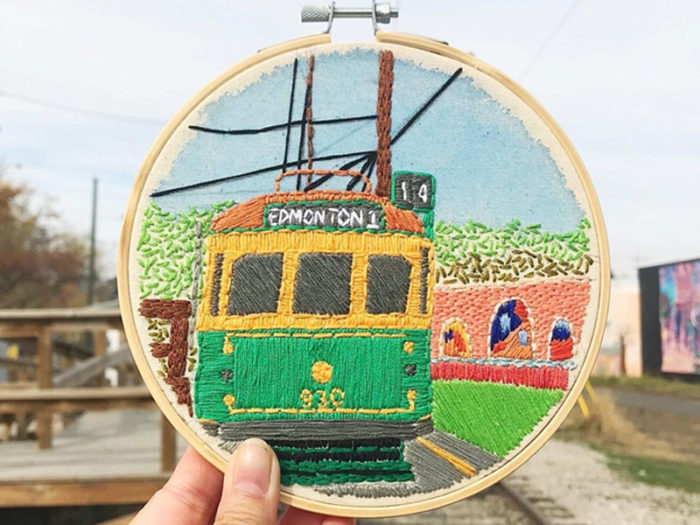 Naked and Frayed Embroidery Gift - Explore Edmonton - Made in Edmonton - Ultimate Gift Guide Linda Hoang