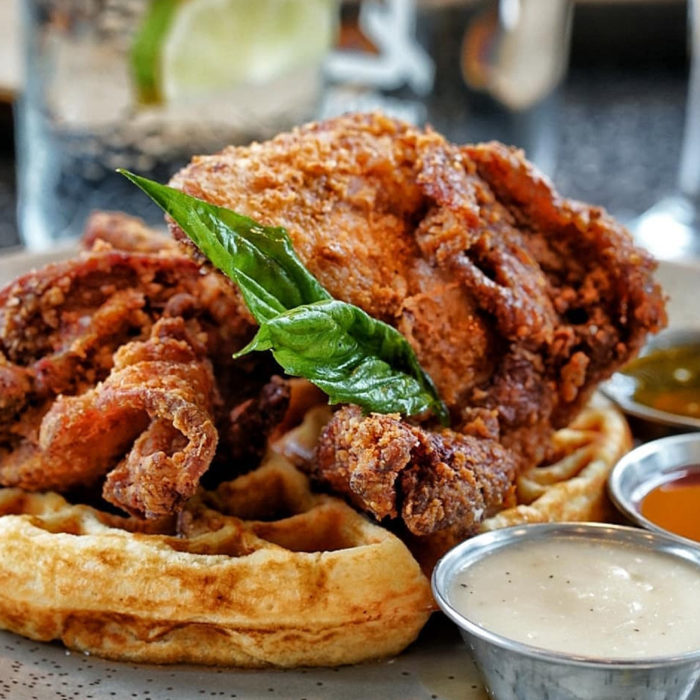 The Brokin Yolk - 10 Delicious Chicken Dishes to Try in Calgary - Explore Alberta - Calgary Restaurants - Chicken and Waffles